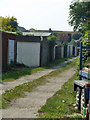 TQ5486 : Back alley, Hornchurch by Robin Webster