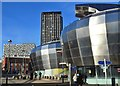 SK3586 : Modern buildings in Sheffield City Centre by Neil Theasby