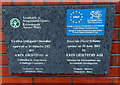 ST3188 : Flood defence plaque, Riverside, Newport by John Grayson