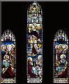 TQ4577 : The Ascension, Plumstead - Stained glass window by John Salmon