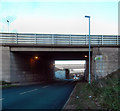 SE4723 : Three motorway Bridges Pontefract by derek dye