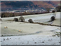 NY2224 : Frosted fields near Braithwaite by Trevor Littlewood