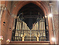 TQ2176 : St Michael &amp; All Angels, Barnes - Organ pipes by John Salmon