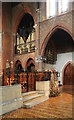 TQ2176 : St Michael & All Saints, Barnes - Organ by John Salmon