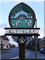 TL2759 : Eltisley Village sign by Adrian Cable