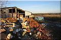 SP9328 : Dilapidated farm buildings by Philip Jeffrey