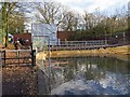 SP0579 : Coffer dam by guillotine lock, Stratford-upon-Avon Canal by David P Howard
