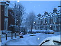 TQ2875 : Sugden Road in winter by Andrew Wilson