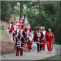 TQ8110 : Santa Fun Run, Alexandra Park by Oast House Archive
