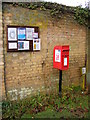 TL2459 : Croxton Village Notice Board & Croxton Village Postbox by Adrian Cable