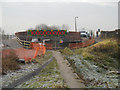 SD7506 : Manchester, Bolton and Bury Canal - Meccano Bridge at Nob End by David Dixon