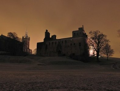 NT0077 : Linlithgow Palace and church at night by Greg Fitchett