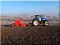 TL1486 : Cereal drilling on a frosty morning by Michael Trolove