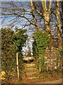 SX4866 : Stile above Milton Combe by Derek Harper