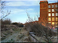 SJ9297 : Disused Railway and Guide Bridge Mill by David Dixon