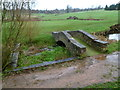 SO5810 : Two bridges over water, Forest of Dean Golf Club course, Coleford by John Grayson