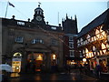 SO5174 : The top of Broad Street in Ludlow in December by Jeremy Bolwell