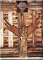 TL0128 : St George, Toddington - Roof angel by John Salmon
