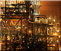 TA1628 : Saltend Chemical Works at Night : Week 51