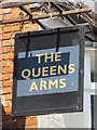 TQ3104 : Sign for The Queens Arms, George Street, BN2 by Mike Quinn
