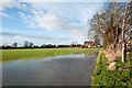 SE6921 : Partly flooded field in Rawcliffe Bridge by Trevor Littlewood