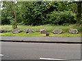 ST5477 : Small milestone, Shirehampton Road, Bristol by Jaggery