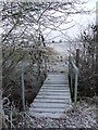 TL7137 : Frozen Footbridge by Keith Evans