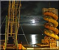 TA3009 : The beach Helter Skelter at Cleethorpes bathed in moonlight by Steve  Fareham