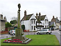 TL2470 : Godmanchester War Memorial and The Black Bull  by Alan Murray-Rust