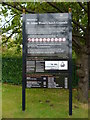 TQ2782 : Public notice, St Johns Wood Church Gardens NW8 by R Sones