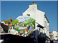 TQ3004 : Alice Dreams mural in Middle Street, Brighton by Roger  Kidd