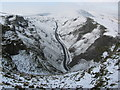SK1382 : Winnats Pass in the snow by Colin Park