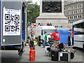 TQ2980 : Jesus Army crew, Trafalgar Square, W1 by Robin Stott