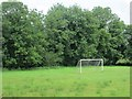 N3167 : Goalposts, Rathowen by Richard Webb