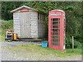 NM7699 : Inverie: telephone box and delivery office by Chris Downer