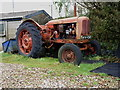 SW3727 : Nuffield Universal tractor at Higher Tregiffian farm by Richard Law