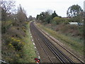 SU4510 : Railway heading past Newtown by Shaun Ferguson