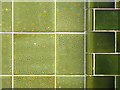 TQ3382 : Speckled green tiles, The Birdcage, Columbia Road E2 by Robin Stott