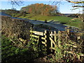 SK2069 : Kissing gate on the path between Ashford in the Water and Bakewell by Colin Park