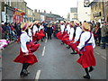TL2697 : Dancing in the street - Whittlesea Straw Bear Festival 2013 by Richard Humphrey