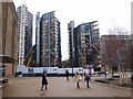TQ3180 : Plaza outside the Tate Modern by Oliver Dixon