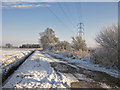 SE7873 : Power lines pass over Ryton Stile Road by Pauline Eccles