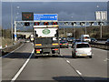 SP1474 : Northbound M42, Overhead Sign Gantry by David Dixon
