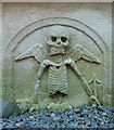 NT3527 : Emblems of mortality in Yarrow Kirkyard by Walter Baxter
