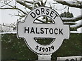 ST5307 : Halstock: finger-post detail by Chris Downer