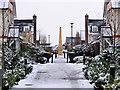 SU9852 : Monument in Queen Elizabeth Park in the Snow : Week 4