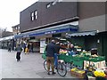 TQ3076 : Fruit and veg stall outside Stockwell tube station by David Martin