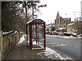 SE0824 : Bus stops on Free School Lane by Stephen Craven