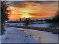 SD7808 : Sunset over the Manchester, Bolton and Bury Canal by David Dixon