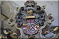 SK8039 : Crest on memorial to 4th Earl of Rutland, Bottesford church by Julian P Guffogg